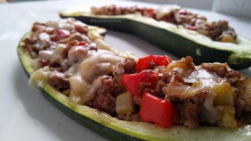Calabacines rellenos/ Stuffed zuchinni